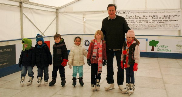 David Cameron Ice Skating