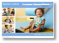 Gymbo Listen screen shot of website