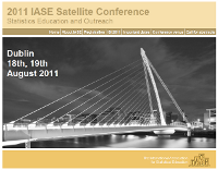 IASE Satellite Conference 2011